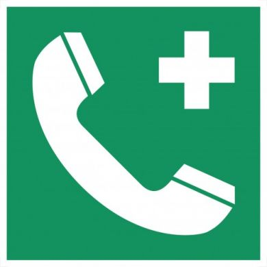 LUUX Sign phone on a green background 150x150mm